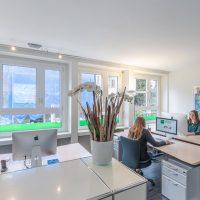 Office der Sprachschule Schneider in Zürich