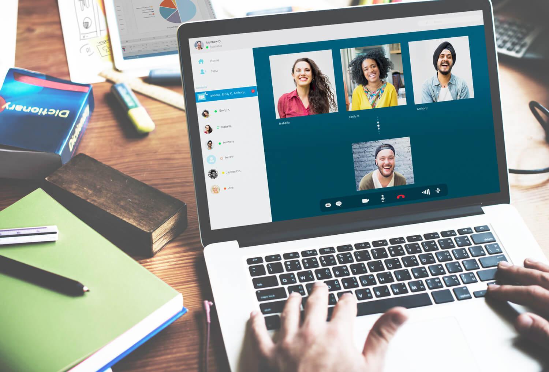 Französisch Online Gruppen per Videochat