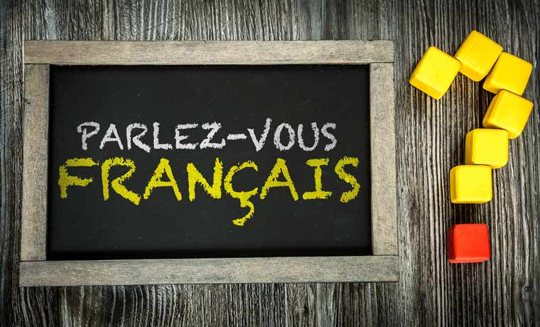 "On a tablet it says ""Parlez-vous français?"", Do you speak French?"