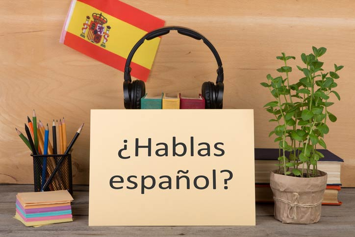 "On a tablet it says ""hablas español? - do you speak Spanish?"" -"